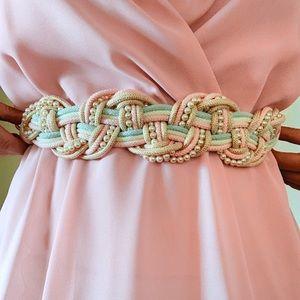 Vintage 1980s Braided Belt
